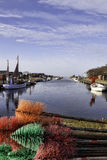 Stauning harbor in the western part of Denmark Royalty Free Stock Photos