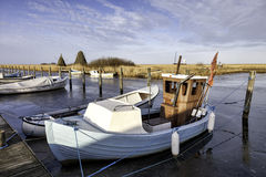 Stauning harbor in the western part of Denmark Stock Photo