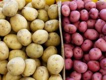 Stauräume der Kartoffeln Stockbild