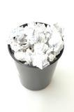 Stauraum gefüllt mit Papier Stockfotos