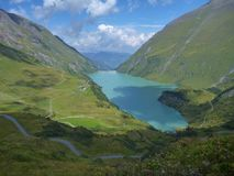 Stausee mooserboden dam in austrian alps Stock Photo