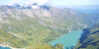 Stausee mooserboden dam in austrian alps Royalty Free Stock Photos