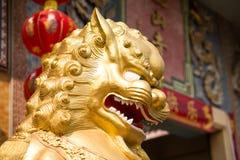 Staute cinese del leone Fotografie Stock