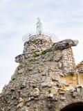 Staute da Virgem Maria no Rocher de la Vierge, Biarrtiz, Basq Foto de Stock