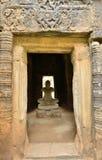 Staute di Jayavarman VII nel castello della pietra di phimai Immagini Stock
