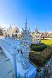 Staute inside public white temple Royalty Free Stock Image