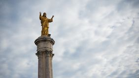 Jesus Christ in fatima stock image