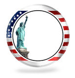 Staute of Liberty USA Round Empty Stock Images