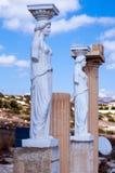 Stautes of Caryatids. Ancient greek statues of Karyatis Royalty Free Stock Images