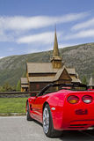 Stav church Lom Stock Image