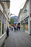 Stavanger, Νορβηγία, παλαιά πόλης οδός Στοκ Εικόνες