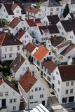 Stavanger 2, Norway. Aerial view of the cluster of white-painted houses of Old Stavanger, Norway, the largest concentration of 18th-century wooden buildings in Royalty Free Stock Images