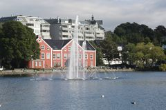 Stavanger湖 图库摄影
