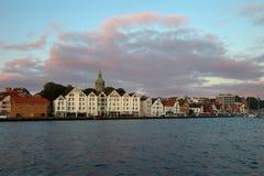 Stavanger al crepuscolo Immagine Stock Libera da Diritti