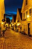 Stavanger bij nacht Royalty-vrije Stock Foto's
