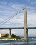 Stavanger Bridge. In the beginning of the awesome Lysefjord (Norway Royalty Free Stock Photo