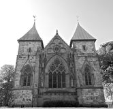 Stavanger Cathedral 002 BW Stock Images