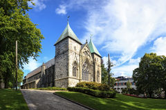 Stavanger Cathedral. Famous Stavanger Domkirke one of the oldest churches in Norway Royalty Free Stock Photography
