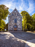 Stavanger Cathedral. Famous Stavanger Domkirke one of the oldest churches in Norway Stock Image