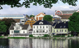 Stavanger Centre Pond. The pond Breiavatnet in the Centre of Stavanger Stock Photo