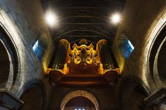 Stavanger Church interior. Stavanger, Norway - August 24 2017: Interior of the oldest Stavanger`s Church, located in the city of Stavanger in Rogaland county Royalty Free Stock Photos