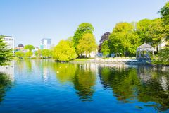 Stavanger city park royalty free stock image