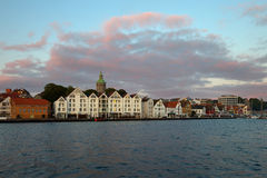 Stavanger an der Dämmerung Lizenzfreies Stockbild