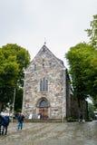 Stavanger domkyrka i Norge Arkivbilder