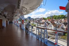 Norway, Stavanger, view of the city from the cruise ship. royalty free stock photo