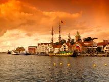 Stavanger harbor. Old port town of Stavanger, Norway Royalty Free Stock Photos