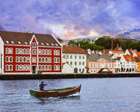 Stavanger - la Norvegia Fotografia Stock Libera da Diritti