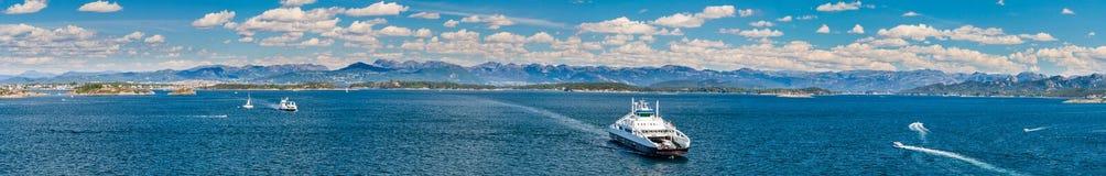 Stavanger linia brzegowa i zatoka Zdjęcie Royalty Free