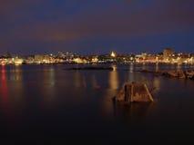 Stavanger by night Stock Photo