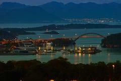 Stavanger at night Royalty Free Stock Photos