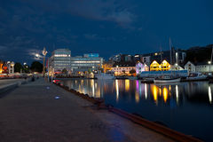 Stavanger by night Stock Image
