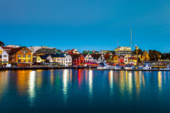 Stavanger at night Stock Images