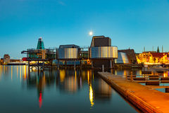 Stavanger at night. Charming town in the Norway Stock Photo