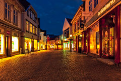 Stavanger at night Royalty Free Stock Images