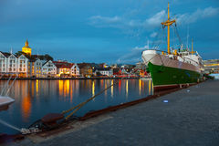 Stavanger at night Stock Photography