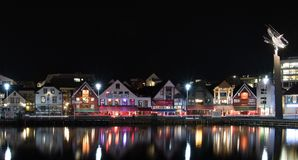 Stavanger by nigth Stock Image