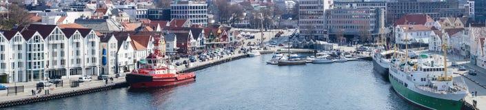 Stavanger in Noorwegen stock foto's