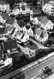 STAVANGER, NORUEGA - CIRCA 2016 - una vista de la ciudad vieja del ` s de Stavanger en Noruega Muchas casas noruegas tradicionale fotografía de archivo