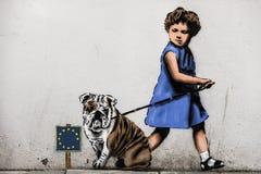 Stavanger, Noruega, o 26 de julho de 2017: Grafittis na parede em Stavang Fotografia de Stock