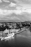 STAVANGER, NORWAY - CIRCA 2016 - A vertical landscape image of the city of Stavanger in Norway. Many of the city`s highlights can be found in this area Stock Photos