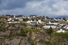 Stavanger, Norway, city View from the sea. royalty free stock photos