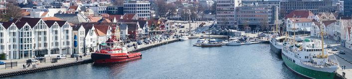Stavanger in Norwegen stockfotos