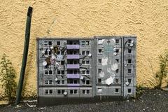 Stavanger, Norwegia, Lipiec 26, 2017: Graffiti na elektrycznym pudełku ja Obrazy Stock