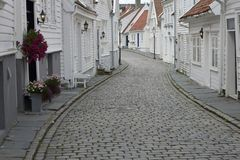 Stavanger Old Town Royalty Free Stock Photography