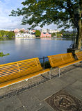Stavanger Pond. Stavanger has several beautiful lakes, which are popular recreation areas. Breiavatnet is located in the heart of Stavanger, while Mosvatnet and Royalty Free Stock Images