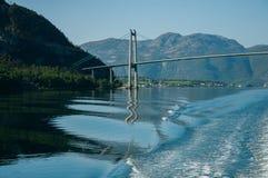 Stavanger-Stadt-Brücke Lizenzfreies Stockbild